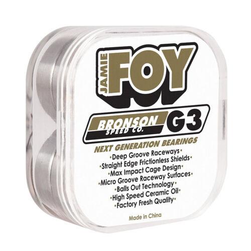 Bronson Speed Co Jamie Foy Pro G3 Skateboard Bearings Set Of 8