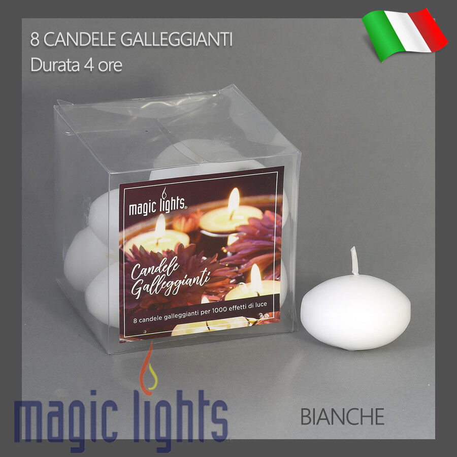 CANDELE GALLEGGIANTI MAGIC LIGHTS CANDELA GALLEGGIANTE 8PZ BIANCHE INODORE