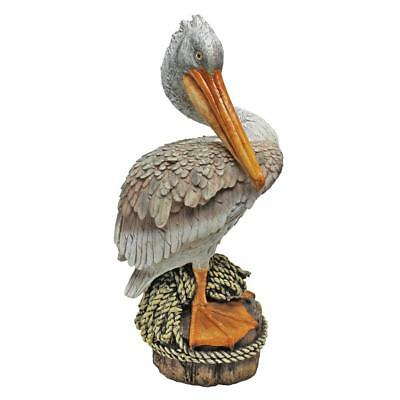 OCEAN SIDE PIER 51 PELICAN STATUE DESIGN TOSCANO pelican statue  ocean deoration