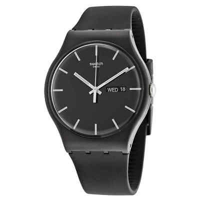 Swatch Mono Black Dial Black Silicone Men's Watch SUOB720