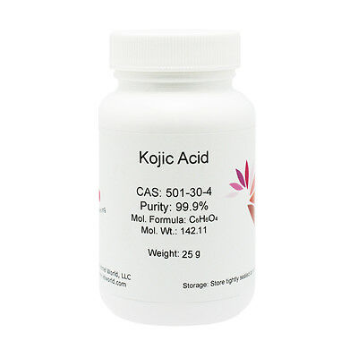 KOJIC ACID POWDER, 25 g, Skin Whitening LIGHTENING, 99.9% PURE, Hot Sale!