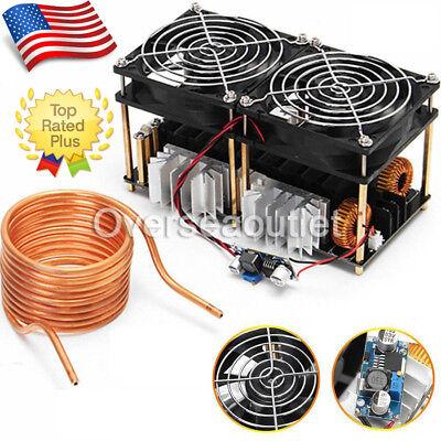 - 1800W ZVS Induction Heating Board Module Flyback Driver Heater+Tesla Coil+Fan