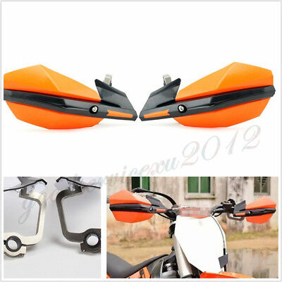 One Pair 22mm/28mm Motorcycles Dirt Bikes Handlebar Handguard Hand Guard Orange