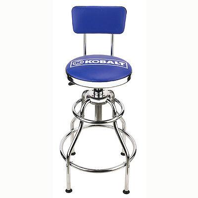 NEW Kobalt Adjustable Hydraulic Stool Mechanic Seat Chair Work Shop Garage -