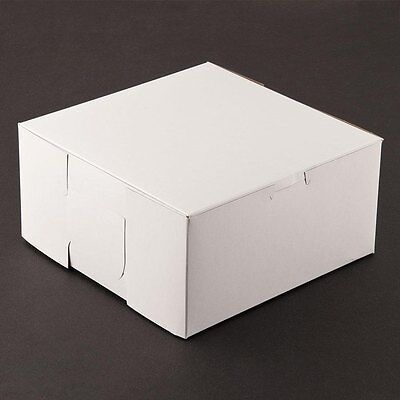 25 Count White 8x8x4 Bakery Or Cake Box
