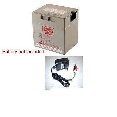 12V Clip Charger for Power Wheels Grey Battery   12 Volt