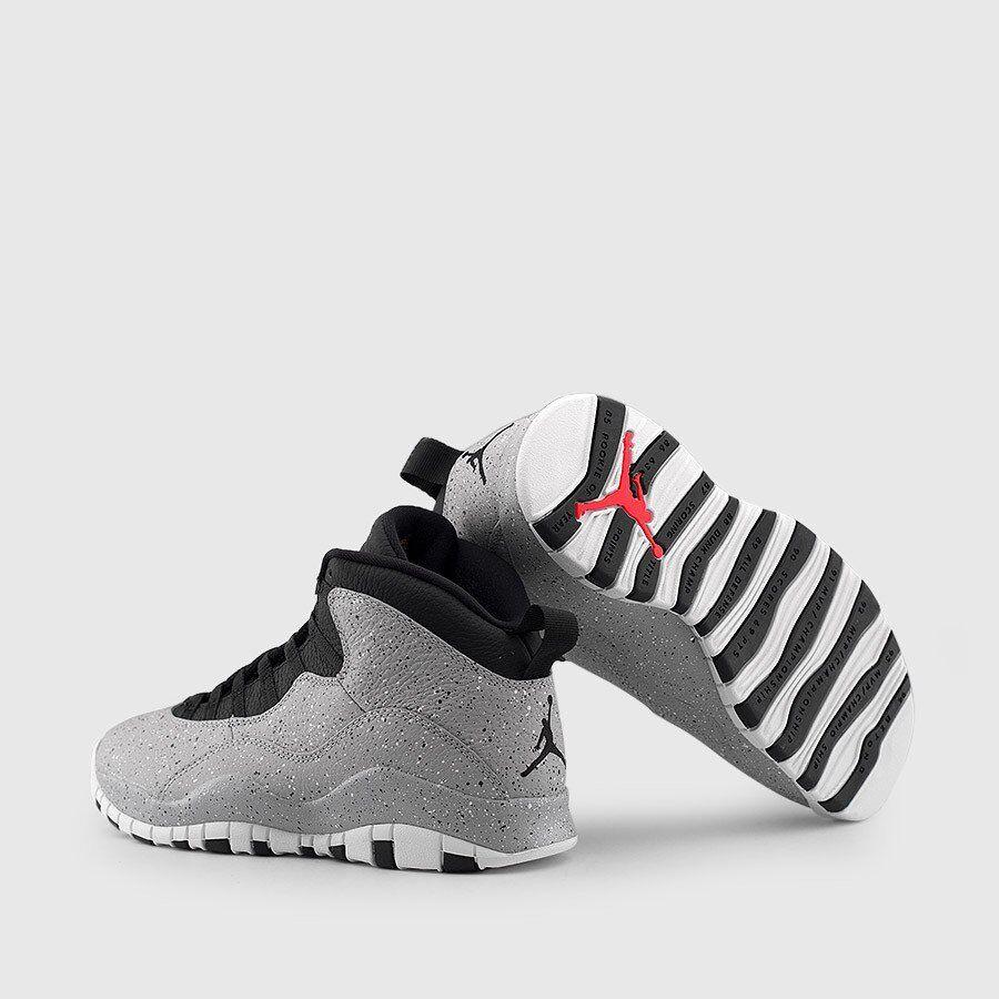 fb694d827f982d Nike Air Jordan Retro X 10 CEMENT Light Smoke Grey 310805-062 Lot Sz GS  5.5-6.5