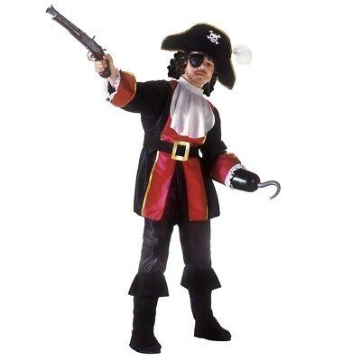 KINDER PIRATEN KAPITÄN KOSTÜM Karneval Mittelalter Seeräuber Karibik Jungen - Piraten Kapitän Kind Kostüm