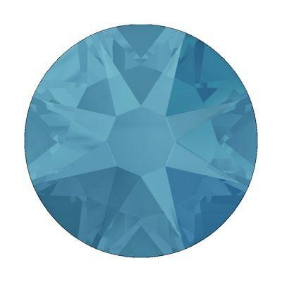 SWAROVSKI CRYSTAL RHINESTONES CARIBEAN BLUE OPAL SS5  nail art flat backed gems