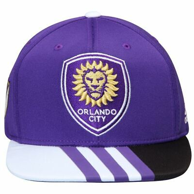 save off 58624 3388b Orlando City Hat Snapback MLS Soccer Adidas Authentic Adjustable Purple One  Size