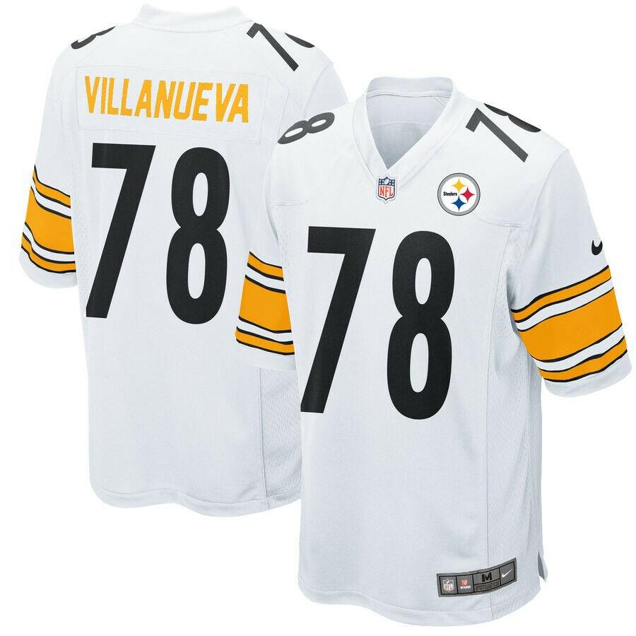 VILLANUEVA camiseta de la NFL STEELERS color blanca.Talla S,M,XL,2XL,3XL.