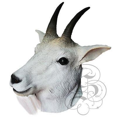 Berühmte Kostüm (Latex ganzer Kopf Tier Mountain Ziege berühmt Kostüm Karneval Party Masken)