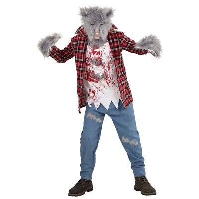KINDER WERWOLF KOSTÜM & MASKE Halloween Karneval Jungen Grusel Monster Wolf 0880 (Halloween-kostüme, Werwolf, Kinder)
