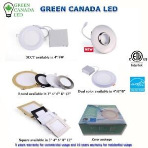 'Summer Promo Sale' 40% OFF- 4'' LED Slim Panel / Recessed Potlight 9W = 80W, 800lm,ETL - IC Rated - 10 Yrs War - 9.49 $