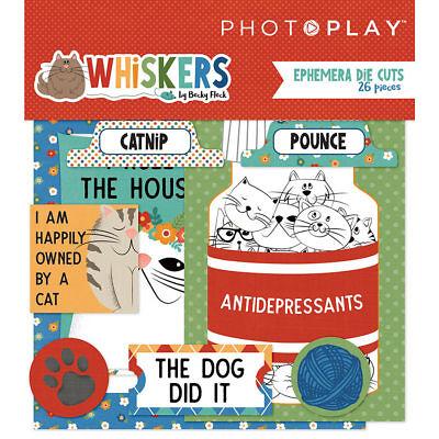 Scrapbooking Crafts Ephemera Die Cuts Whiskers Cats Dog Did It Catnip Love Mew