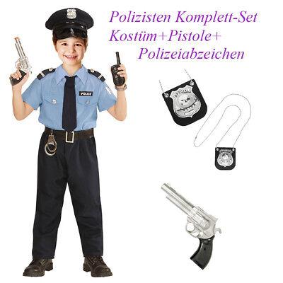 POLIZEI KOSTÜM SET KINDER Karneval Fasching Polizist Pistole Marke Waffe # Po11 ()