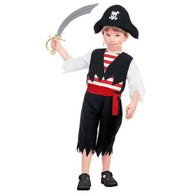 KINDER PIRATENKOSTÜM & HUT Karneval Kleinkind Jungen Piraten Karibik Kostüm 3663 ()