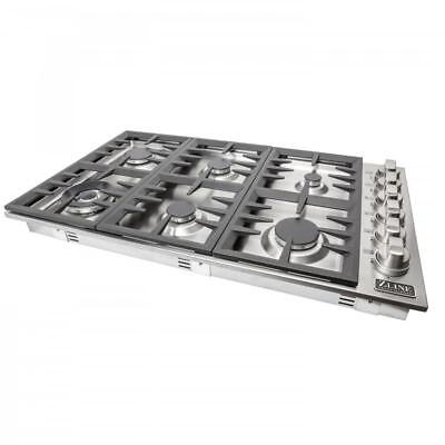 """ZLINE 36"""" PRO Dropin Cooktop with 6 Gas Burners STAINLESS ST"""