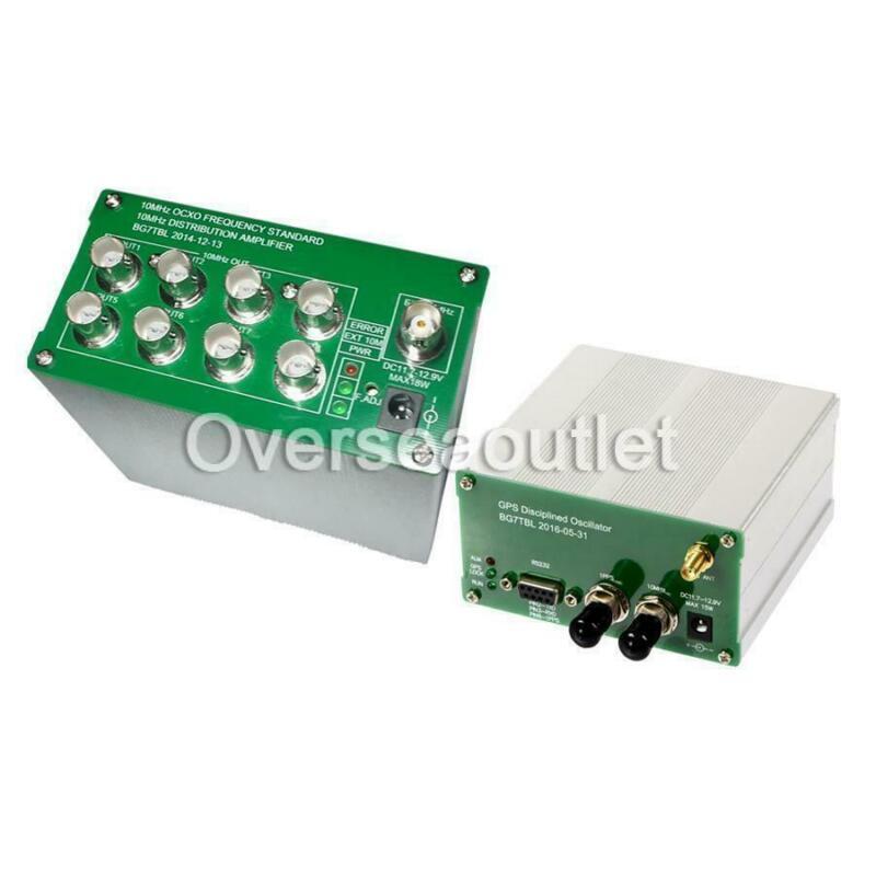 2020 10MHZ  SINE WAVE GPS DISCiPLINED CLOCK GPSDO + Distribution amplifier OCXO