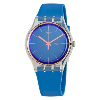 Swatch SUOK711 Polablue 41MM Men's Blue Silicone Watch