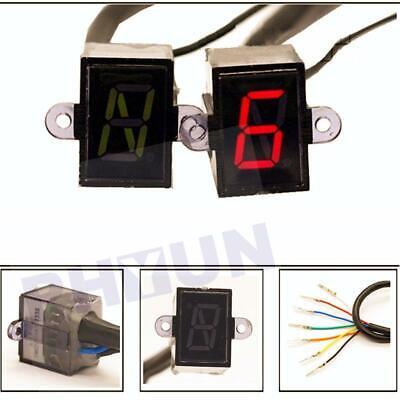 6 Speed N-6 Digital Gear Indicator Motorcycle Display Shift Lever LED Universal