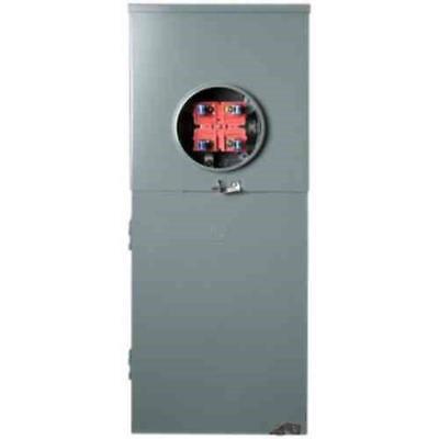 Square D Main Breaker Load Center 16 Circuit 8 Space 200 Amp Aluminum Gray New