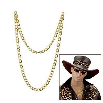 LANGE GOLDKETTE Zuhälter Pimp Karneval Rapper Kette Gold Halskette Schmuck 05855