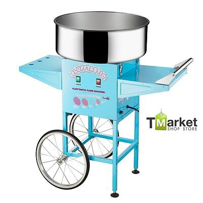 Commercial Large Electrics Cotton Candy Cart Machine Floss Maker Vintage Modern