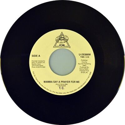 """7"""" T. C. TERRY & BARBARA BULLOCK Mama Say A Prayer For Me SCAL Country USA 1992"""