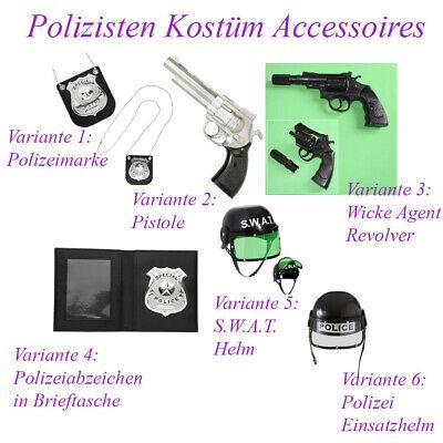 POLIZISTEN KOSTÜM ZUBEHÖR # Karneval Polizei Helm Marke Pistole Revolver # - Polizist Kostüm Zubehör