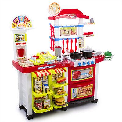 Spielküche KP4009 Spielzeug Kinder Küche mit Zubehör Rot Kinderküche NEU