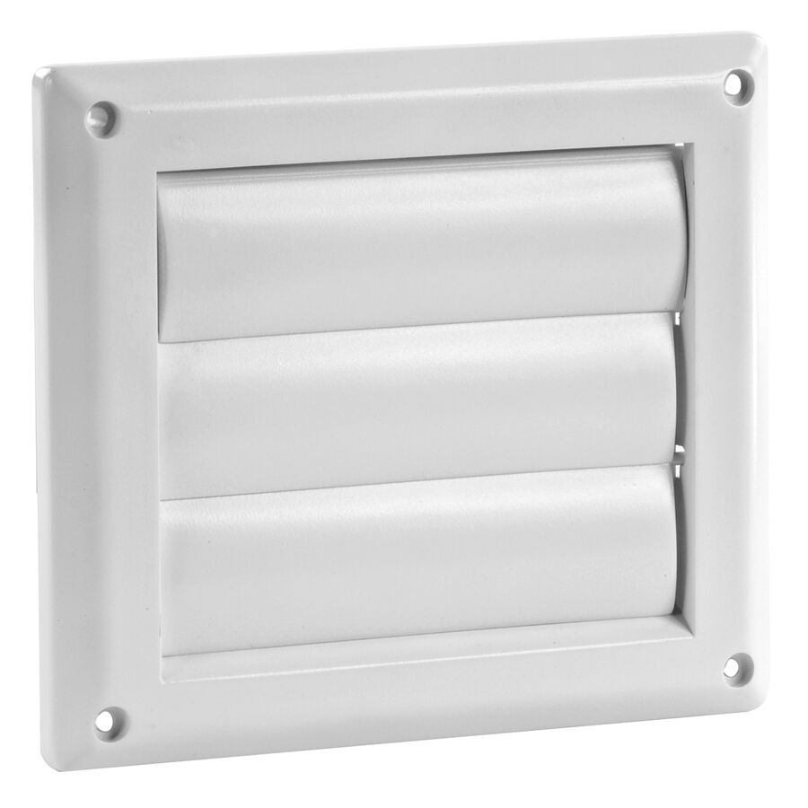 Imperial White UV-Resistant Paintable Plastic 4-in Louvered
