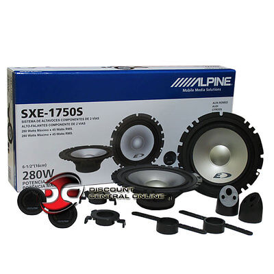 "ALPINE SXE-1750S 6.5"" 2-WAY CAR AUDIO COMPONENT SPEAKER SYSTEM (PAIR)"