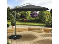 large black over 3 meter parasol brand new in the box 3 in total only £70 each or £180 for the 3