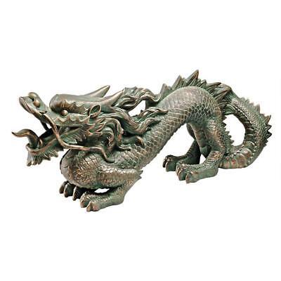 - Asian Far East Chinese Dragon Spiked Tail Garden Sculpture Medium Statue