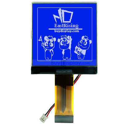 Blue 3v 2.5128x128 Cog Graphic Lcd Module Displayst7541 Controller Wtutorial