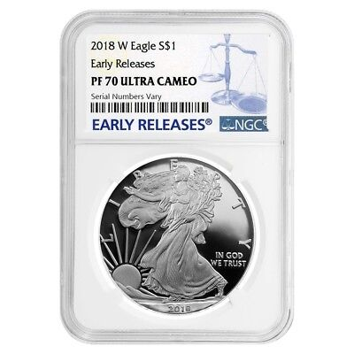 2018-W 1 oz Proof Silver American Eagle NGC PF 70 UCAM ER