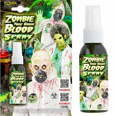 FX ZOMBIE BLUT SPRAY GRÜN biohazard Toxisch Gift Schminke Labor Farbe Make up