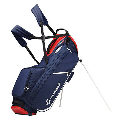 TaylorMade Flextech Crossover Golf Stand Bag 2020 - Navy/Red/White