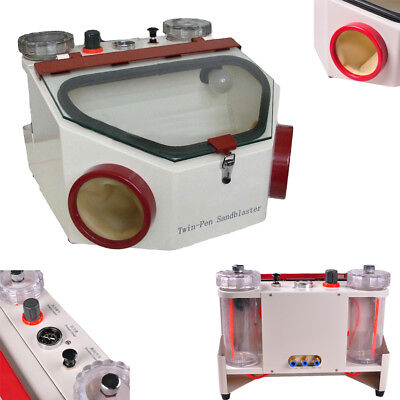 Fdadental Sand Blaster With Twin-pen Fine Sandblaster Lab Equipment