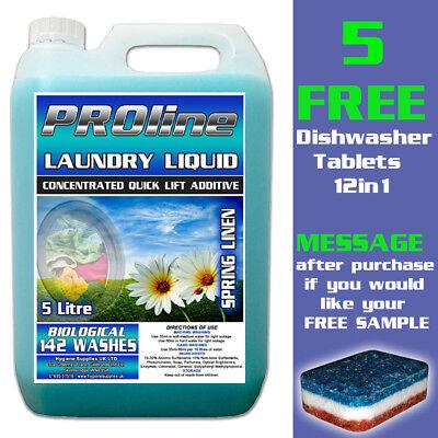 Premium Bio Spring Linen Laundry Liquid / Detergent 5ltr (142 WASHES)