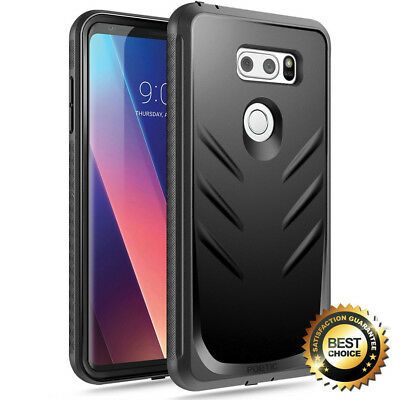 Poetic For LG V30 (2017) Case Revolution Series Shockproof Rugged Cover Black