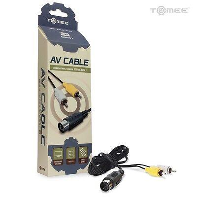 - Sega Genesis Model 1 AV Cable RCA Composite Audio Video A/V Cord - Brand New 6ft