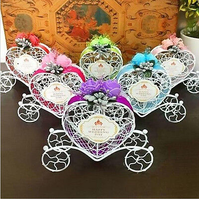 Cute Cinderella Carriage Candy Chocolate Boxes Wedding Party Favour Decor Box AU