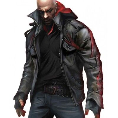Prototype 2 Game James Heller Leather Jacket Costume - BNWT](Leather Jacket Costume)