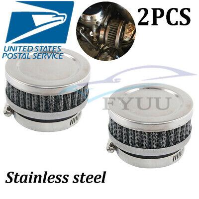 1 Pair 42mm Motorcycle Scooter Stainless Steel Mushroom Head Cleaner Air Filters