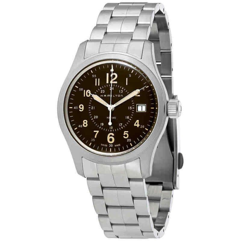 Hamilton-Khaki-Field-Brown-Dial-Stainless-Steel-Men-Watch-H68201193