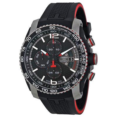 Tissot PRS 516 Black Dial Chronograph Black Rubber Mens Watch T0794272705700