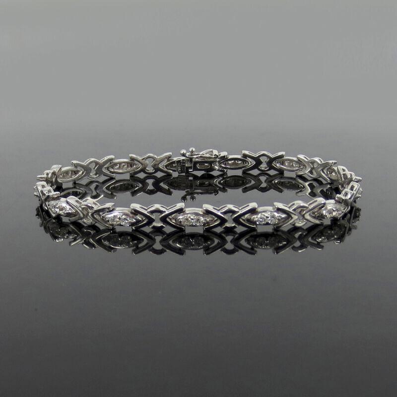 Gerard 1.00ct Fine De/vs Diamond & 18k White Gold Tennis Bracelet