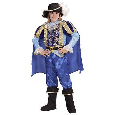 BLAUER PRINZ KINDER KOSTÜM JUNGEN Karneval Mittelalter Gewand König Märchen - Kind Mittelalter Prinzen Kostüm